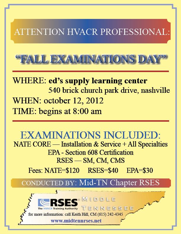 Fall 2013 Exams Flyer